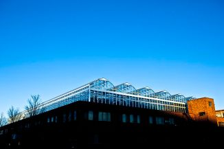 Lufa_Farms_Montreal_rooftop_greenhouse_in_Sunlight