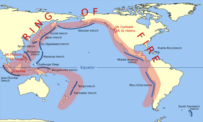 WIKIMEDIA Commons - Pacific Ring of Fire